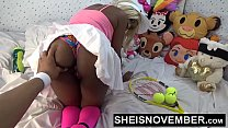 9809 Hardcore Hot Nasty Little Ebony Bitch Msnovember In Skirt Getting Pussy Fuck Sheisnovember HD preview