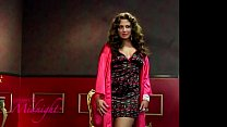 Plus Size Cherry Print Chemise With Robe(iphone)