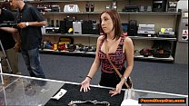 Busty teen fucked in the Pawnshop