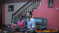 African teen seduced doggy style big white rod thumbnail