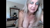 hot busty mature babe inserts anal plug and rub...