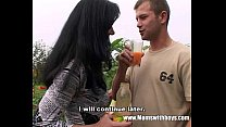 Young Gardener Gets To Fuck His Horny Mature Client