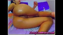 Cute nasty teen take dildos in her anus