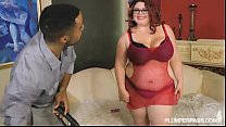 PinUp BBW Slut Trinety Fucks Big Black Cock First XXX Scene