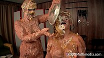 Wet and Messy Pie Fight Fifi Foxx and Whitney Morgan Have a sexy naked Pie Fight صورة