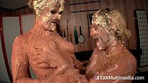 Xvideos hentai - Wet and Messy Pie Fight Fifi Foxx and Whitney Morgan Have a sexy naked Pie Fight thumbnail