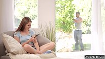 College girl anal fucked by the gardener