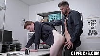 Sexy Security Officer Caught an Twink Stealing In Mall and Fucked a Him