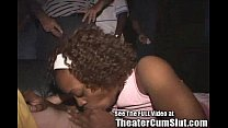 Ebony Whore Cum Coated in a Porn Theater! thumbnail
