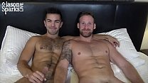 JasonSparksLive - Bearded stud and hairy jock flip fuck after hot foreplay