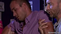 Pigtailed blonde cheating with his older father