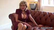 Unfaithful english milf lady sonia displays her...