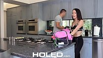 HOLED Pornstar Megan Rain toys wet pussy before anal fuck