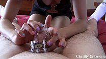Beg me to take off your chastity device