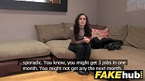 Fake Agent UK Petite teen gets cum splattered face on casting couch Preview