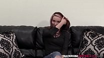 Teen Serenity penetrated and facial on casting couch