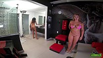 Another newcomer to be a porn actress getting ready to take iron - Camila Fenix - Higor Negrao - Rebecca Santos