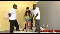Slim teen anal fucked by big black cocks porn image