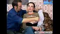 Russian Nerdy Teen with Daddy