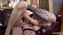 Hairy Grandma Found Porn of Young Boy and let him Fuck Anal صورة