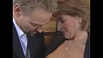 Redheaded mature seduces and fucks her boss