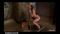 Bound babe to a chair with perfect ass toyed and squirts   XVIDEOSCOM - fuck saw thumbnail