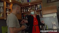 Horny guy seducted blonde executor preview image