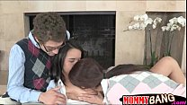 Dillion Harper 3some with her History Prof and co student