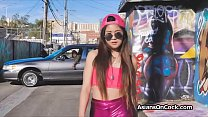 Asian teen enjoys a BBC while being pretty in pink