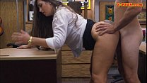 Big butt amateur babe gets her twat fucked in the backroom video