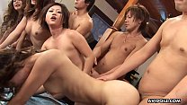 Almost a gang bang brakes out as the sluts get drilled