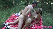 Stepdad fucks stepdaughter outdoor in her wet tiny tight fuckhole deep and long صورة