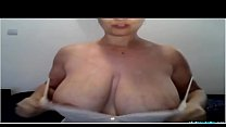 Huge Titted Milf Massages Boobs On Cam