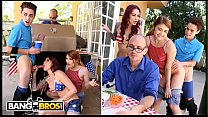 BANGBROS - 4th Of July Threesome With Monique Alexander, Adria Rae & Juan El Caballo Loco's Thumb