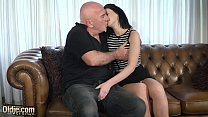 10299 Teen with nice perky tits and shaved pussy fucked by grandpa in old young preview