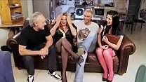 British Chunky MILF Rebecca Ryder Has An Orgy With Her Boss