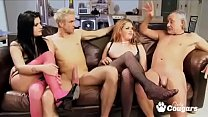 British Chunky MILF Rebecca Ryder Has An Orgy W... />