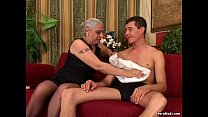 Granny First Huge Cock Anal Image