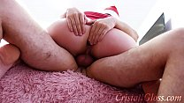 8839 MILF Blowjob and Riding on Huge Dick Closeup for Christmas preview