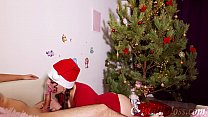 9242 MILF Blowjob and Riding on Huge Dick Closeup for Christmas preview