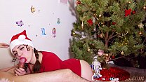 13085 MILF Blowjob and Riding on Huge Dick Closeup for Christmas preview