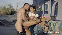 TOUGHLOVEX Latina Abby Brazil fucked hard outdoors صورة