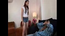 Beautiful Babe Daughter Fucks With Old Dirty Dad