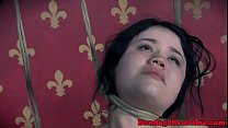 Dominated teen orgasms while toyed