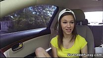 Super hot teen London gets banged by strangers huge cock outdoors thumbnail