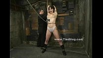 Curly babe tied in bdsm sex video thumbnail