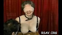 Man does total bdsm nipple torture on this wanting bitch