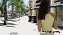 Hot chick from street flashes and blows thumbnail
