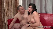 Anal casting of an Amateur french couple with a... thumb