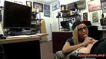 Blondie babe with glasses railed by perverted pawn guy Preview